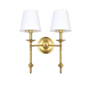SZ & LAM Modern Simple 2-heads Wall Lamp for Living Room Bedroom Bedside Aisle Decoration Lighting