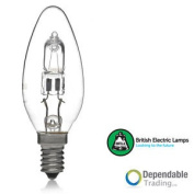 18w = 25w Halogen Energy Saving Candle Ses (e14) Clear