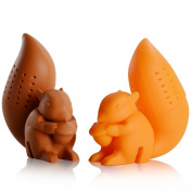 Ineibo Kitchen Squirrel Tea Infuser - Super Cute Silicone Loose Leaf Herbal Tea