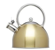 Kitchencraft Le'xpress Induction-safe Stove-top Whistling Kettle, 1.8 L – Brass