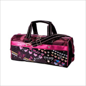 art bag / Ribbon elementary school paint set bag girl pink & black glitter heart school materials
