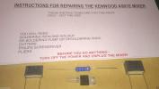 Kenwood Chef A901e Mixer Repair Kit - Capacitors, Resistor, Triac & Instructions
