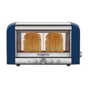 Magimix 2 Slice Vision Toaster Bread Baguettes Tray Kitchen Blue 1.45kw