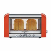 Magimix 2 Slice Vision Toaster Bread Baguettes Tray Kitchen Orange 1.45kw