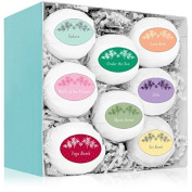 Radha Beauty Bath Bombs Gift Set - 8 All Natural Assorted Essential Oil Bath Bombs - Infused with essential oils and Organic Coconut Oil & Shea Butter for Moisturising Dry Skin - Great gift for her