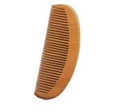 Plai Na Natural Wood Comb for Hair and Beard with Fine Tooth Light Colour, size 13cm x 5.1cm