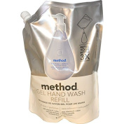 Method, Gel Hand Wash Refill, Free of Dyes + Perfumes, 1010ml (1 l) -- 2PC