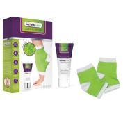 Remedy Health Total Foot Dermal Repair Kit - Silky Sox Cracked Heels Treatment Lotion and Gel Foot Sleeves