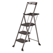 Gorilla 3 Step Ladder With Tray Grey