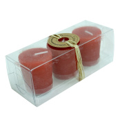 Boston Living Scented Votive Candle Rustic Red 3 Pack