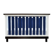 PURE SAFETY Vertical Crib Liners 24 Pack in Luxurious Navy Minky