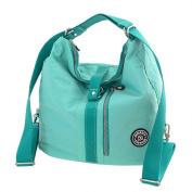 Waterproof Travel Backpack Lightweight Nappy Bag Large Capacity Mummy Tote Wearable Handbag Multi-function Back Method Maternity Nappy Bag Bluey-green
