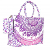 Pink Coloured Sassy Mandala Beach Bag