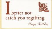 Quiplip BL296PCK 'Regifting' Greeting Cards