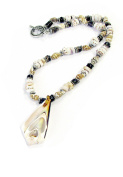 Linpeng 040426-03 Natural Shell Pendant Various Shell Beads Toggle Necklace
