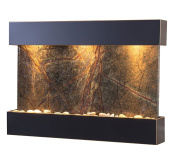 Reflection Creek Water Feature with Blackened Copper Trim and Square Edges