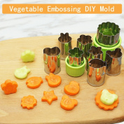 Vegetable Cutters Shapes Set 8 Pcs - Stainless Steel Cookie Cutters Fruit Mould Cheese Presses Stamps for Kids,Cute for Fun Food