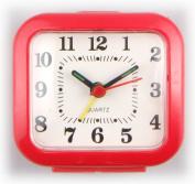 Quartz Travel Bedside Analogue Battery Alarm Clock Red