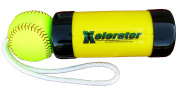 The Composite Xelerator Fastpitch Softball Pitching Training Aid And Warm Up Tool With 30cm Premium Leather Indoor Ball For Improved Grip