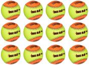 Evil Ball 30cm BP 52 Batting Practise Ball .52/300 Softball- Dozen Evil BP 52-DZ
