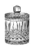 Barski Hand Cut Crystal Cookie Jar / Candy Box , 20cm H, 1 Litre, 1010ml, Made in Europe