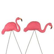 Bright Pink Flamingo Yard Ornament