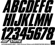 STIFFIE Shift Black 7.6cm ID Kit Alpha-Numeric Registration Identification Numbers Stickers Decals for Boats & Personal Watercraft
