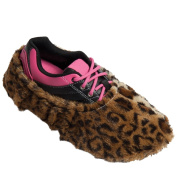 Robby's Fuzzy Shoe Covers- Leopard, One Size Fits Most