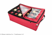 Santa's Bags Prwemium Holiday Christmas Ornament Storage Bag, with 2 Trays, clear view window
