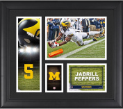 Jabrill Peppers Michigan Wolverine Framed 38cm x 43cm Player Collage - Fanatics Authentic Certified - College Player Plaques and Collages