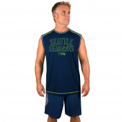 NFL Seattle Seahawks Adult men NFL Plus S/Synthetic Muscle,4XT,Storm Grey/Navy