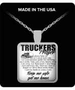Truckers gift - LIMITED EDITION TRUCKER'S PRAYER Pendant Necklace