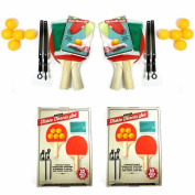 4 Player Table Tennis Set Ping Pong Paddles Kit Balls Net Racket Set Tournament