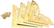4 Pcs 2.5 Brass Flat Corners Bracket For Box Cabinet Decorative Furniture New