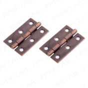 """Pair Of 50mm/2"""" Antique Brass Butt Hinges Small Cupboard/cabin"""
