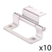 "10x Cranked Zinc 50mm/2"" Double Flush Hinge Home Cabinet/cupboa"
