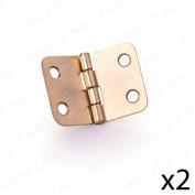 2 X Small Brass Hinge 36mm Wood Furniture Cabinet/cupboa
