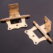 "10x Cranked Antique Brass 50mm/2"" Flush Hinge Offset Caravan/boat Door Fitting"
