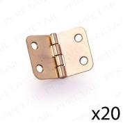 20 X Small Brass Hinge 36mm Jewellery/trin