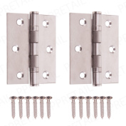 7.6cm Heavy Duty Stainless Steel Ball Bearing Butt Hinges Kitchen Cupboard/cabin