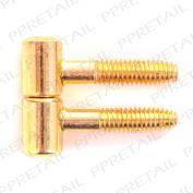 Pair Of Brass Screwless Male & Female Hinges Lift Off Cabinet/wardro