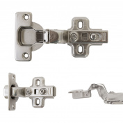 4x 35mm Clip On Soft Close Hinge Kitchen Cupboard Cabinet Door Inset 90° Degree