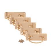 5 X Ring Pull Cupboard Door Handle - Gold