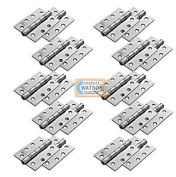 10cm Eurospec Satin Stainless Steel Grade 13 Fire Rated Ball Bearing Hinges 10x Pr
