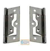 60mm Zinc Plated Flush Hinge Cupboard Cabinet Furniture Door Silver/chrome Look