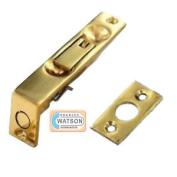 "100mm 4"" Inch Solid Brass Flush Bolt Brass Flush Bolt Door Edge Lock Side Catch"