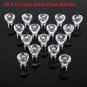 25 X 30mm Crystal Glass Door Knobs Diamond Drawer Cabinet Furniture Acryl Handle
