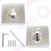 Designer Bathroom Wc Lock Electra Thumb Door Lock Turn & release Polished Crome