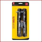 """2 X Door Bolt & Screws Black 20cm / 8"""" Heavy Duty Door Security Fixing"""