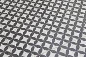 Sample Of Bertie Black & White Feature Floor Tiles 33x33cm